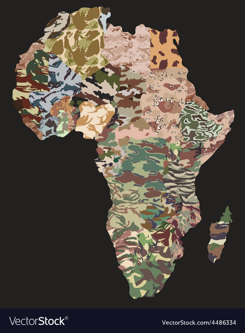 Political camouflage map vector | Price: 1 Credit (USD $1)