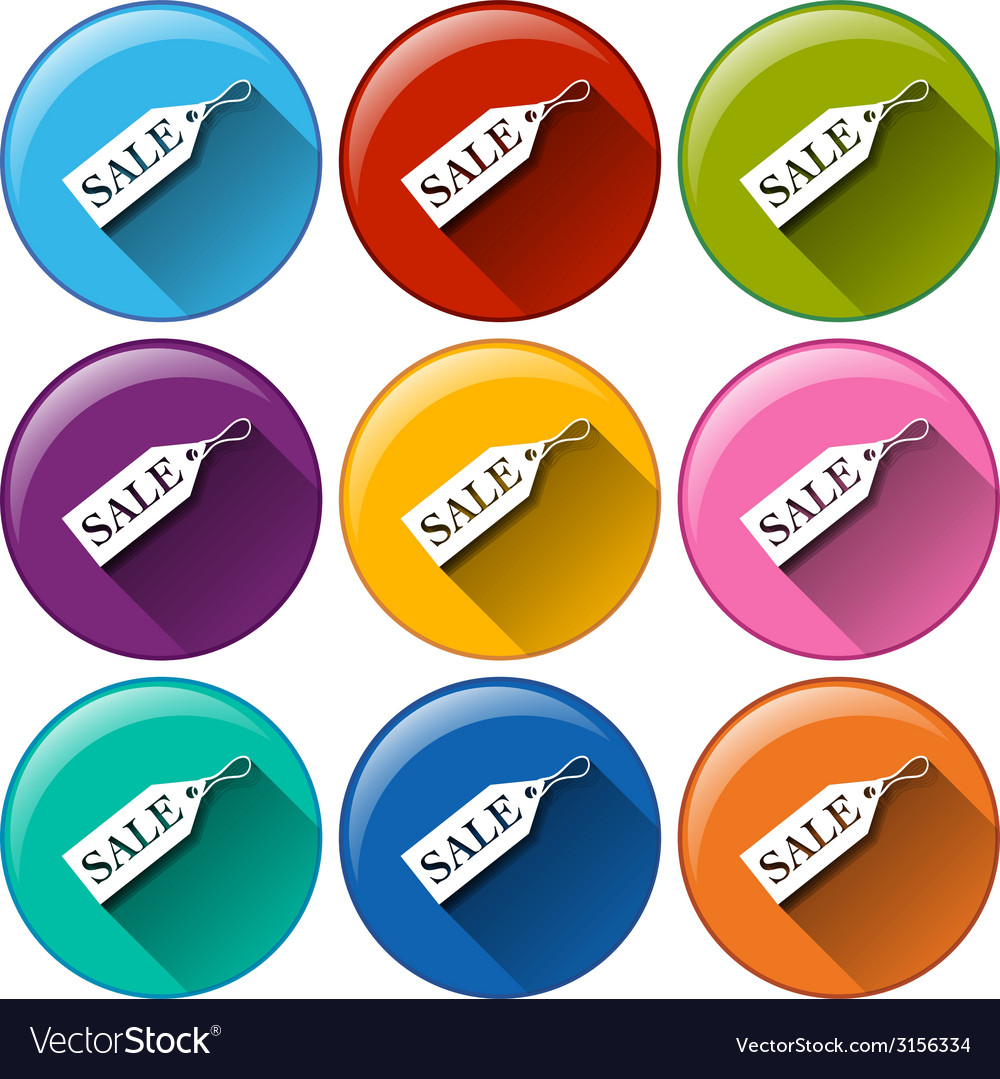 Rounded icons with sale tags vector | Price: 1 Credit (USD $1)