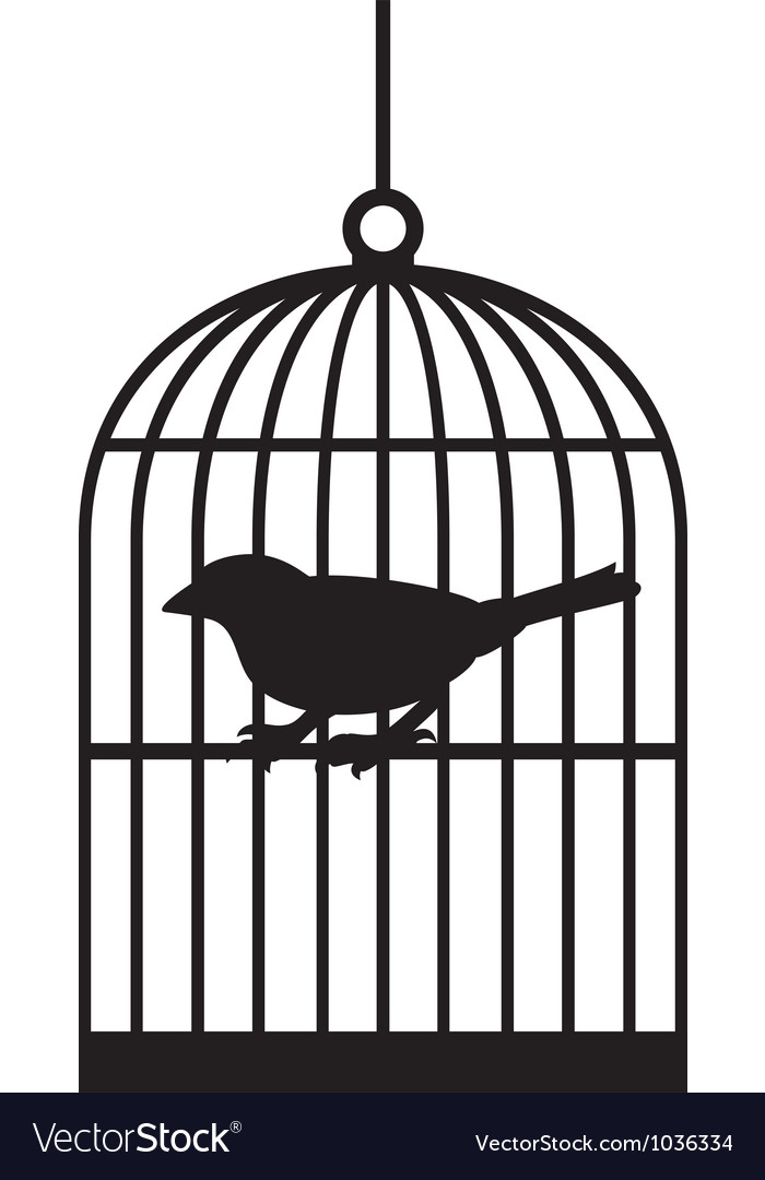 Silhouette bird cages vector | Price: 1 Credit (USD $1)