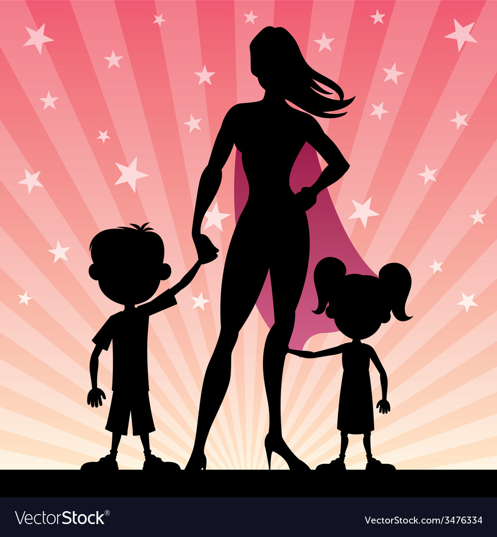 Super mom vector | Price: 1 Credit (USD $1)