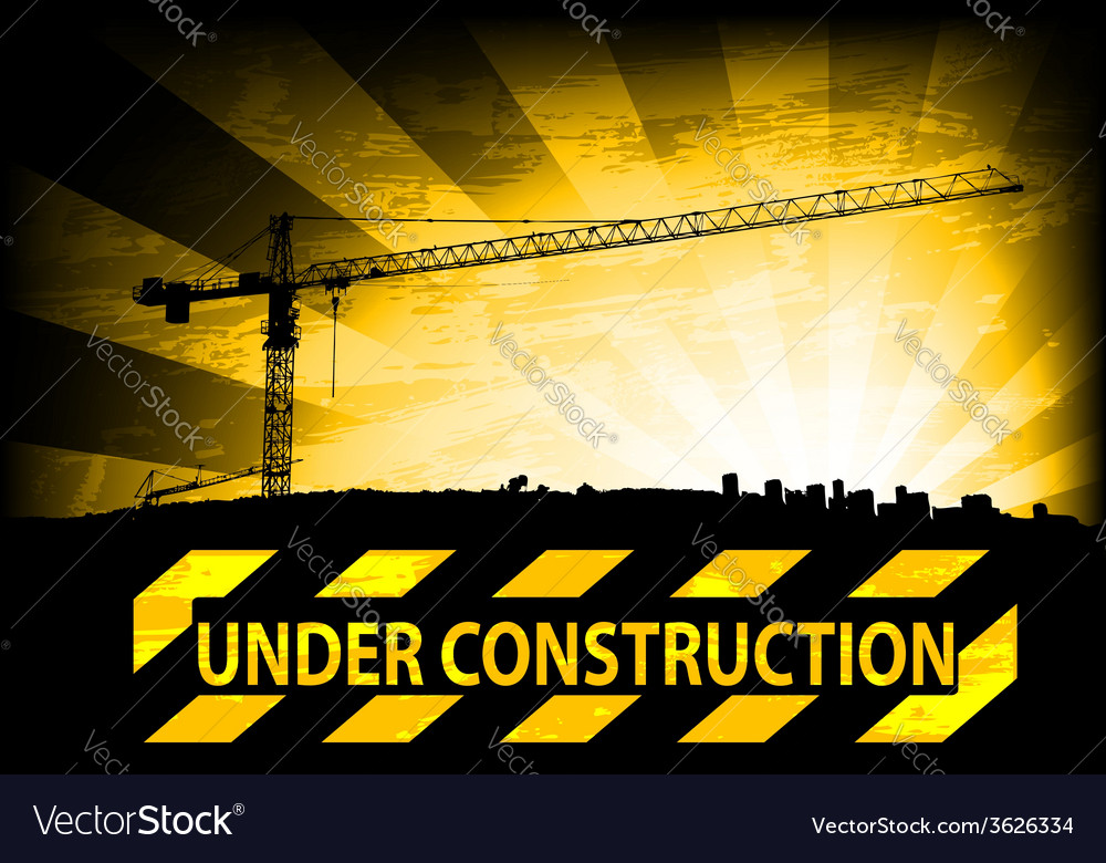 Under construction background vector   Price: 1 Credit (USD $1)