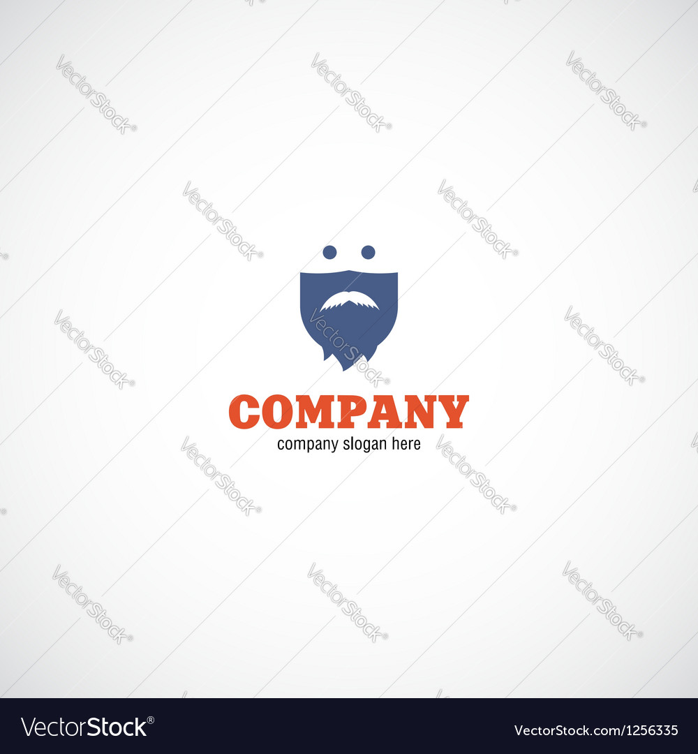 Beard man company logo vector | Price: 1 Credit (USD $1)