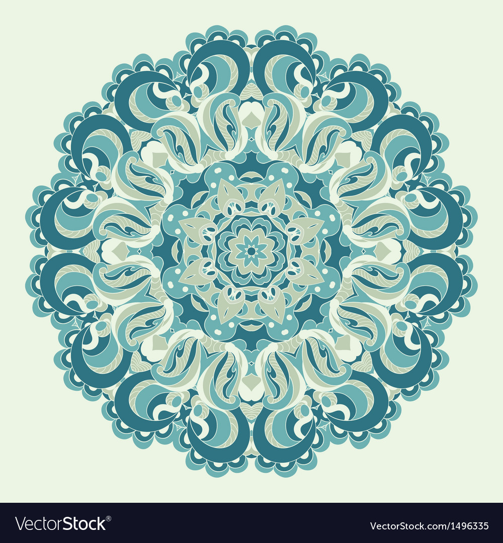 Beautiful blue ornament background vector | Price: 1 Credit (USD $1)