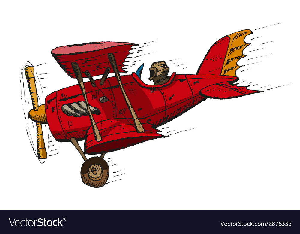Biplane cartoon vector | Price: 1 Credit (USD $1)