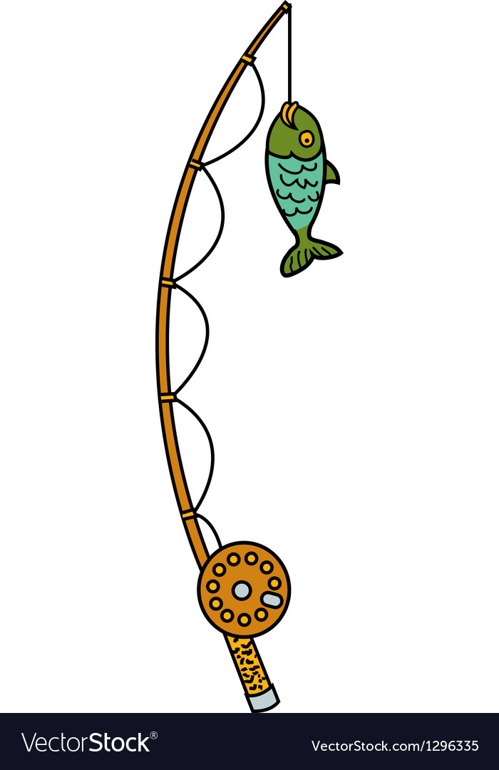 Fishing rod vector | Price: 1 Credit (USD $1)