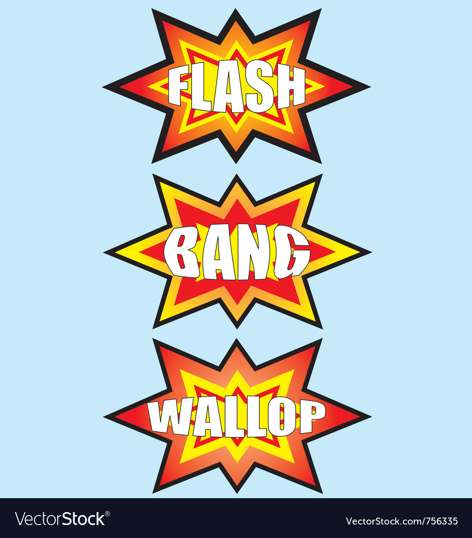 Flash bang wallop signs vector | Price: 1 Credit (USD $1)