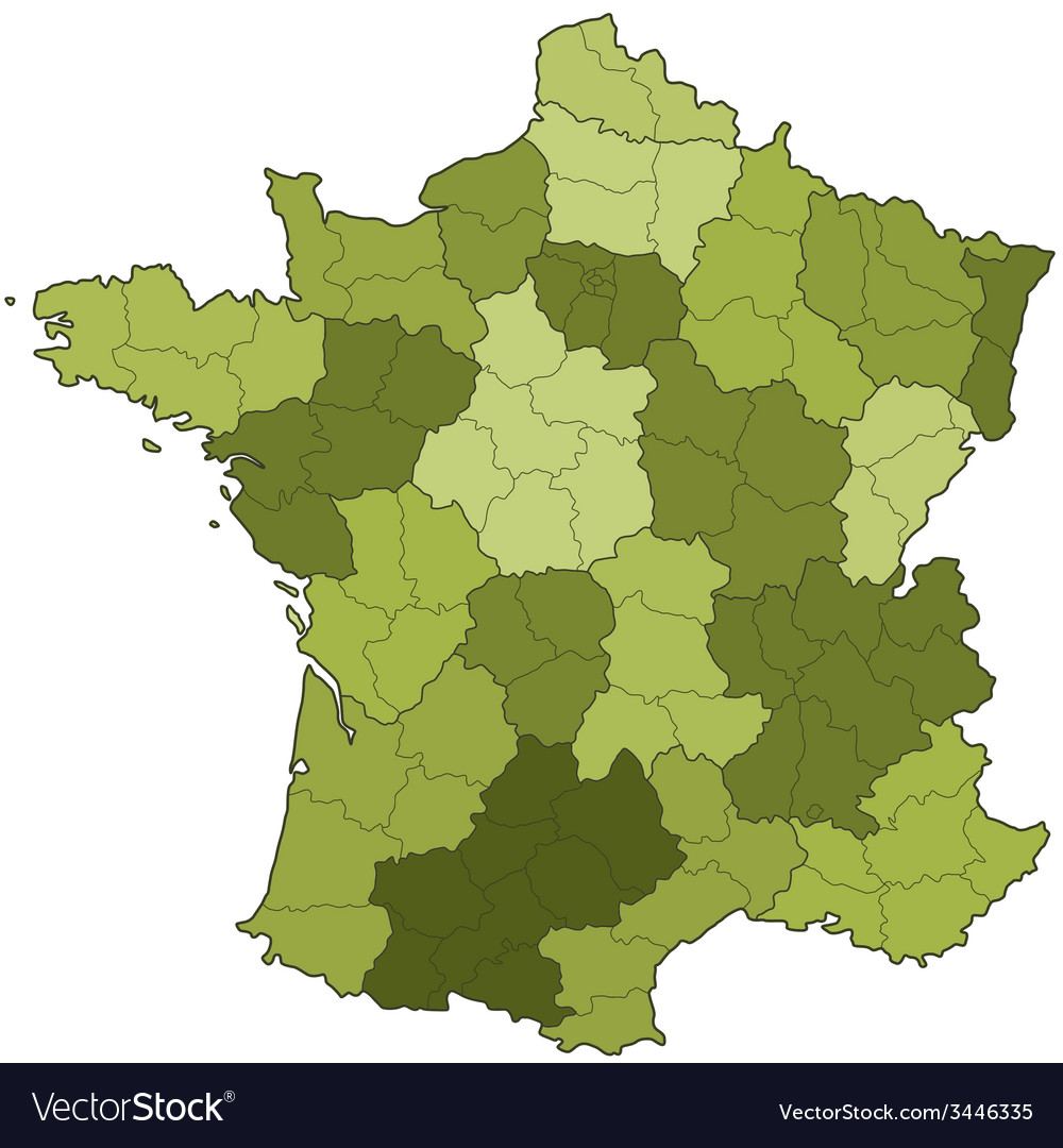 France regions and departments vector | Price: 1 Credit (USD $1)