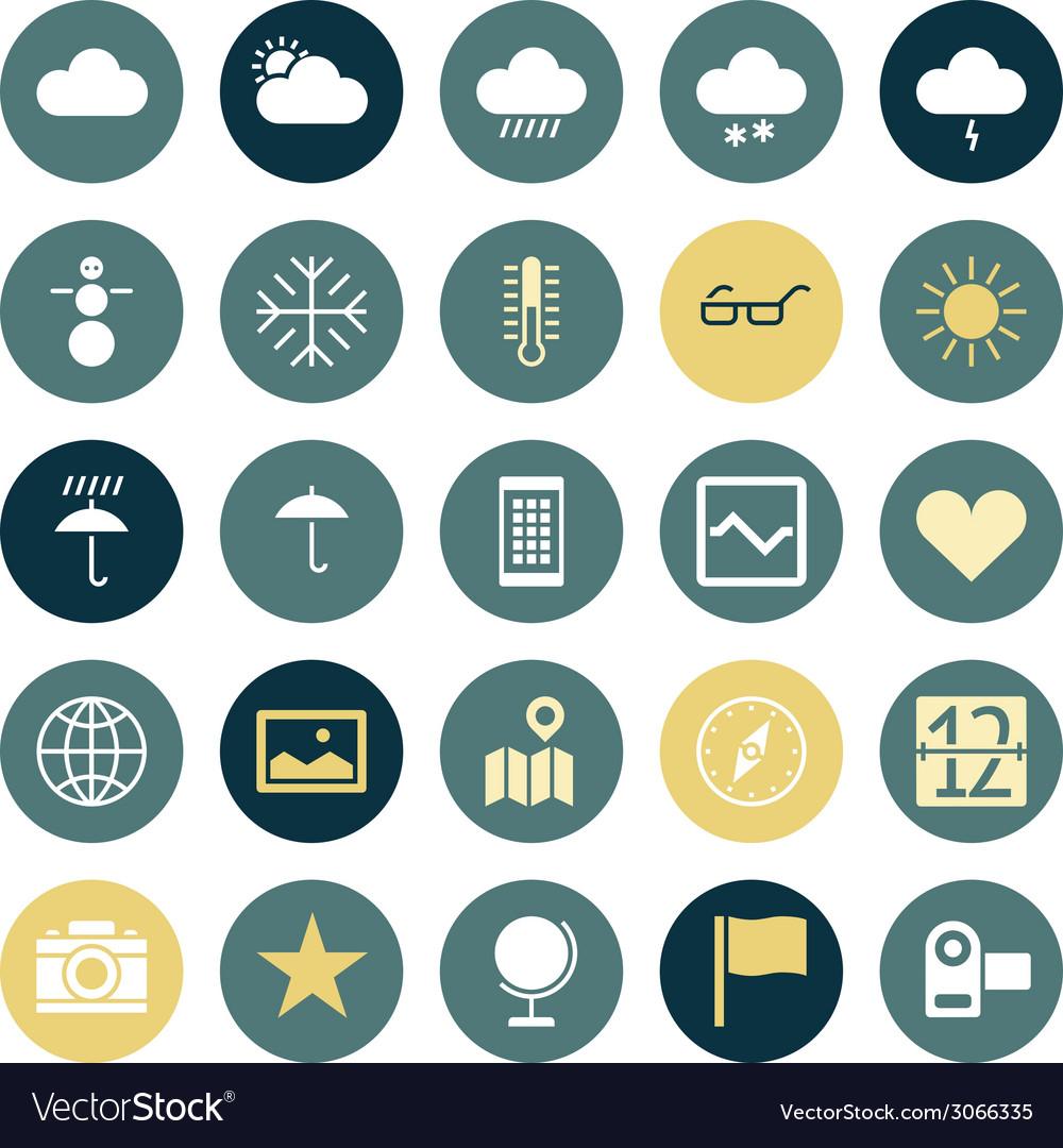 Icons plain round ui program vector | Price: 1 Credit (USD $1)