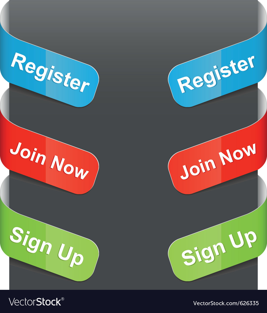 Left right sign register join now sign up vector | Price: 1 Credit (USD $1)