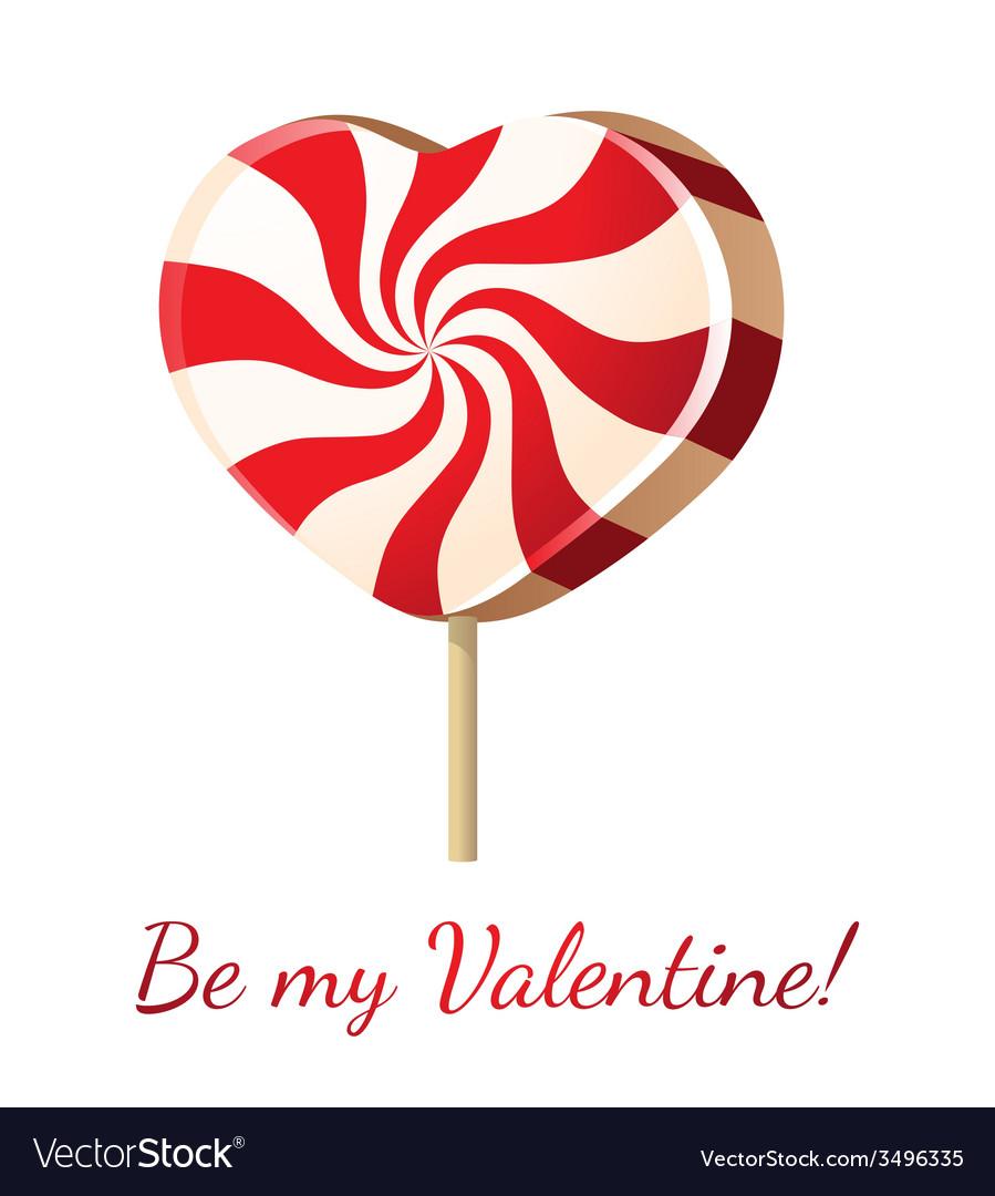 Lollipop heart vector | Price: 1 Credit (USD $1)