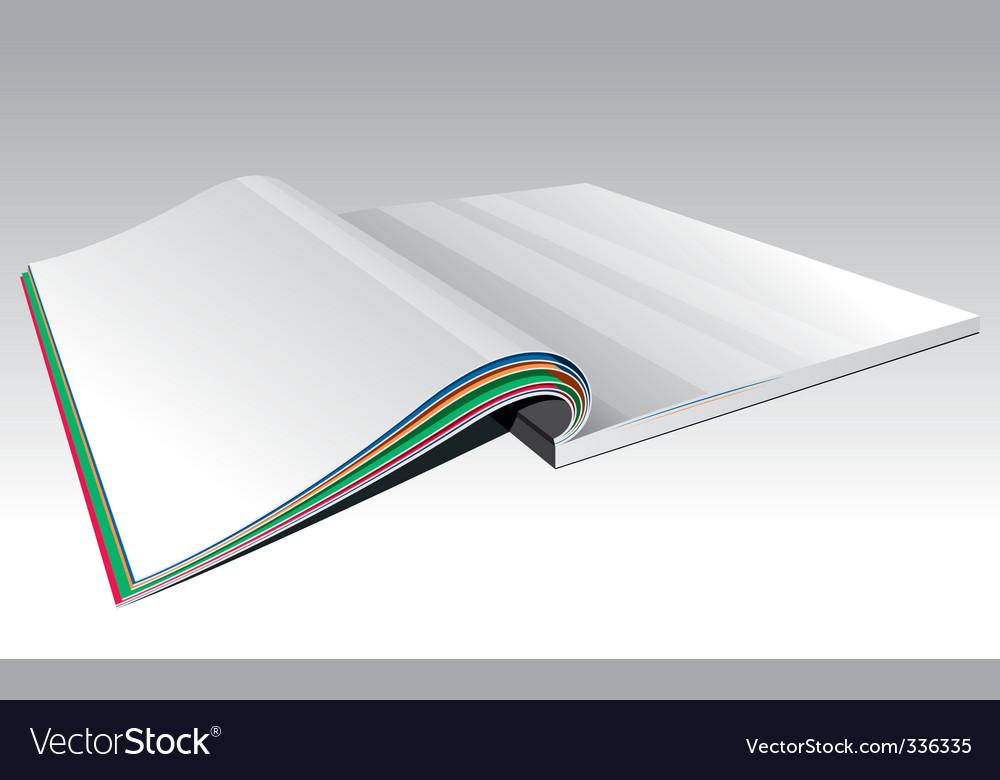 Open magazine vector | Price: 1 Credit (USD $1)