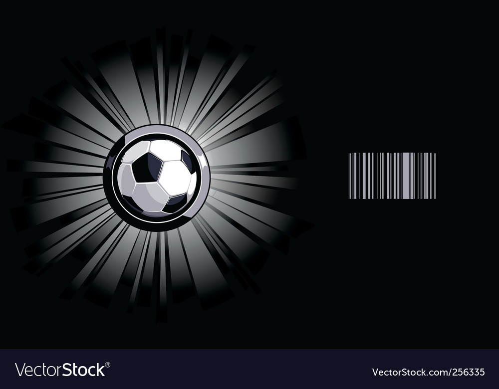 Shining soccer ball vector | Price: 1 Credit (USD $1)