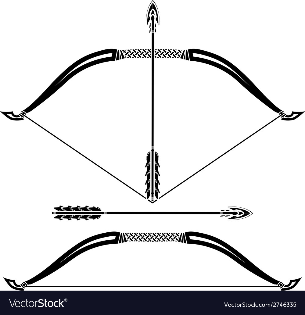 Stencils of bow vector | Price: 1 Credit (USD $1)
