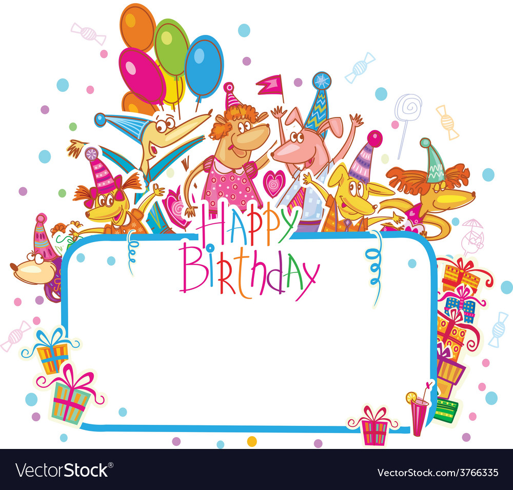 Template for happy birthday card with place for vector | Price: 1 Credit (USD $1)