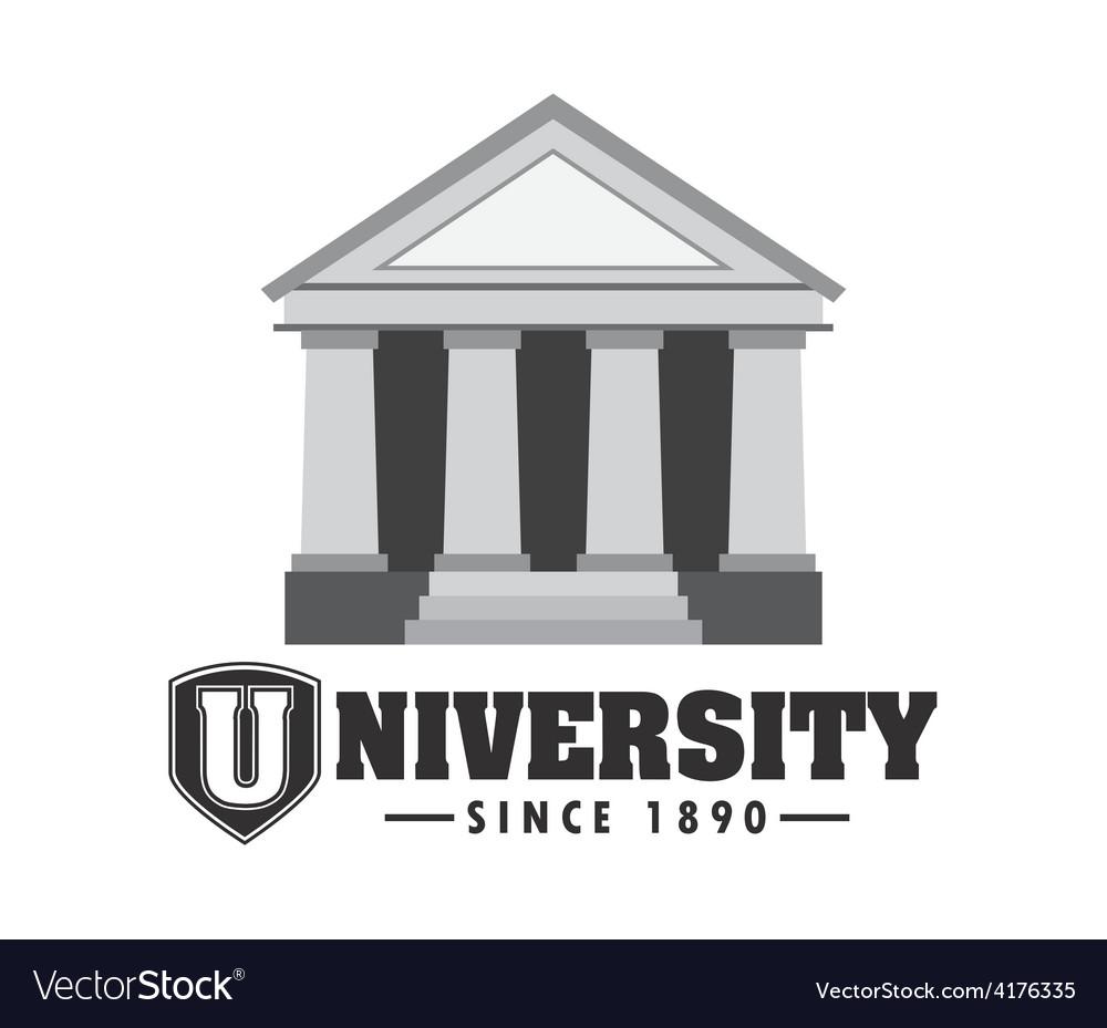 University campus vector | Price: 1 Credit (USD $1)