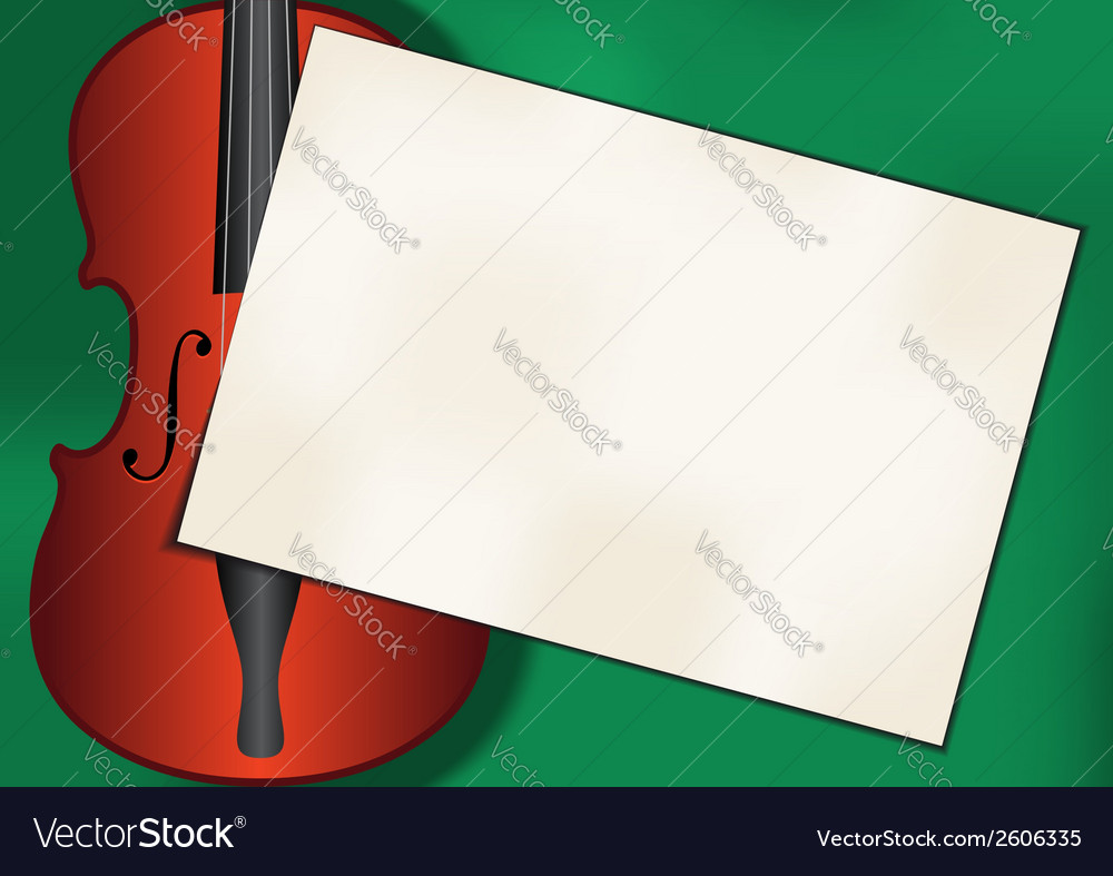 Violin background vector | Price: 1 Credit (USD $1)