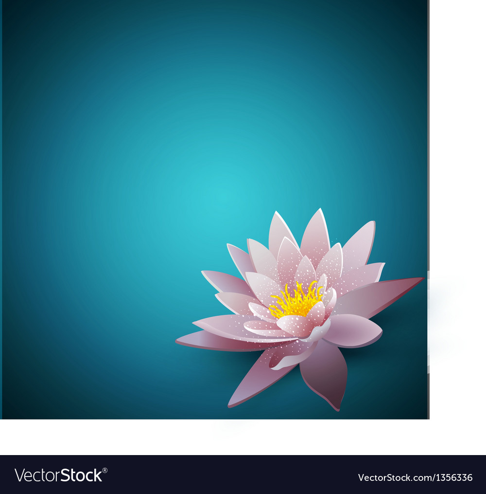 Background with a water lily vector | Price: 1 Credit (USD $1)