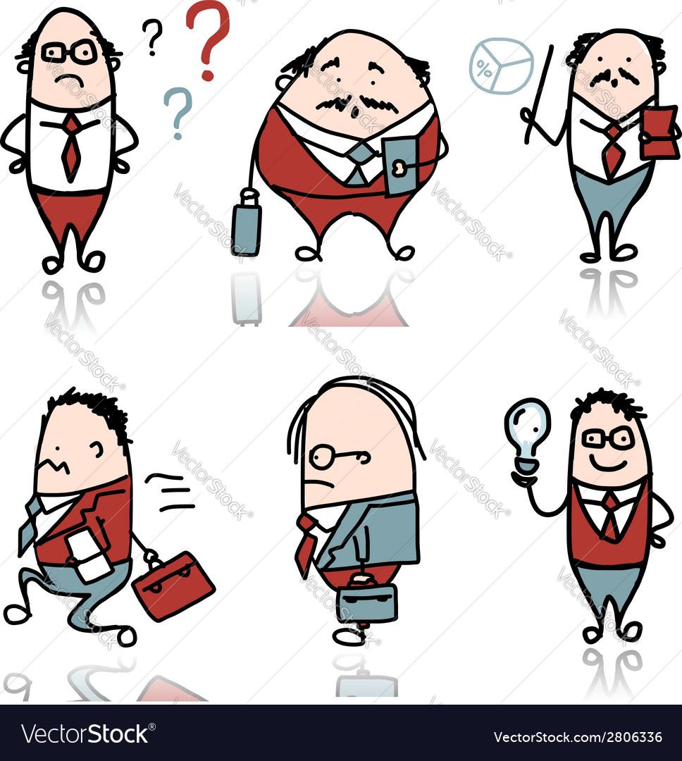Businessmen sketch for your design vector   Price: 1 Credit (USD $1)