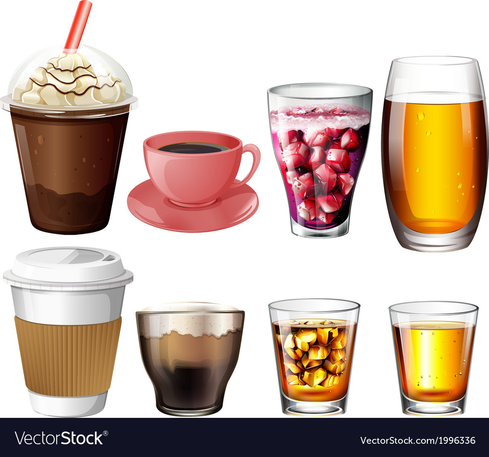 Coffee and cocktail drinks vector   Price: 1 Credit (USD $1)