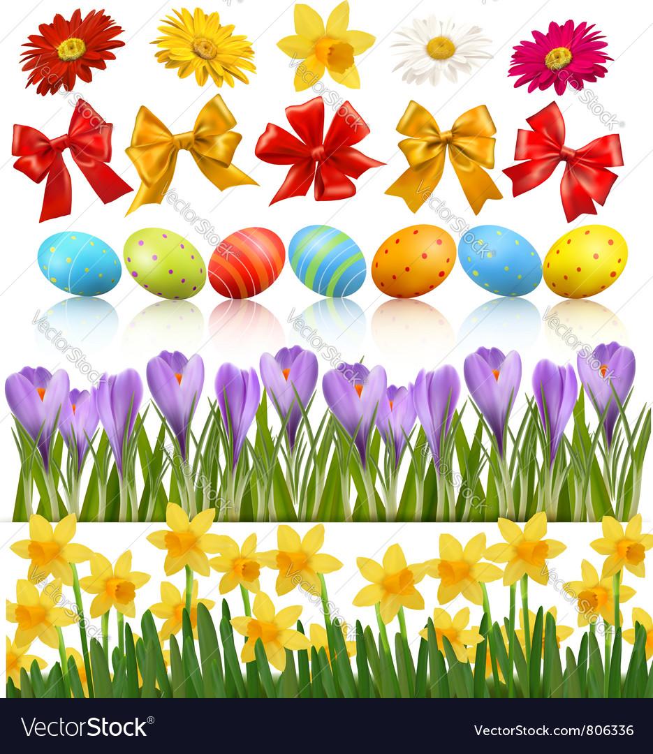 Easter design elements vector | Price: 3 Credit (USD $3)