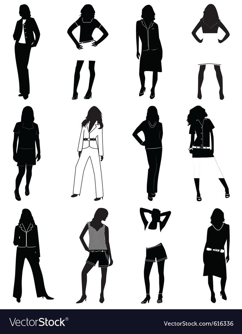 Fashion women vector | Price: 1 Credit (USD $1)