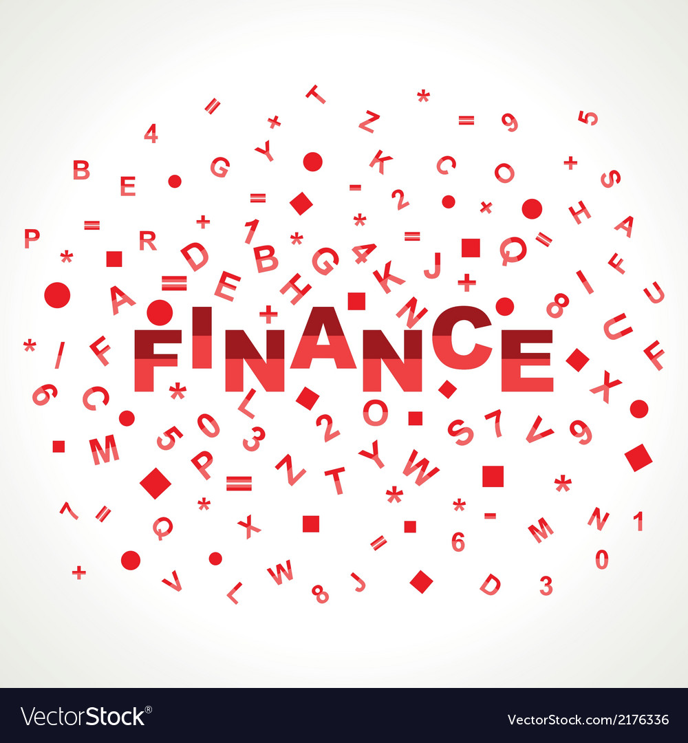 Finance word with in alphabets vector | Price: 1 Credit (USD $1)