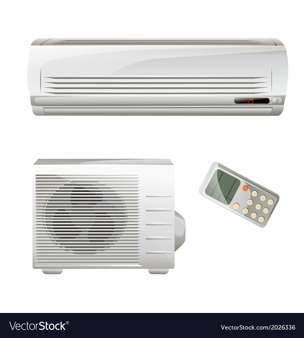 Heat pump and air conditioning vector | Price: 1 Credit (USD $1)