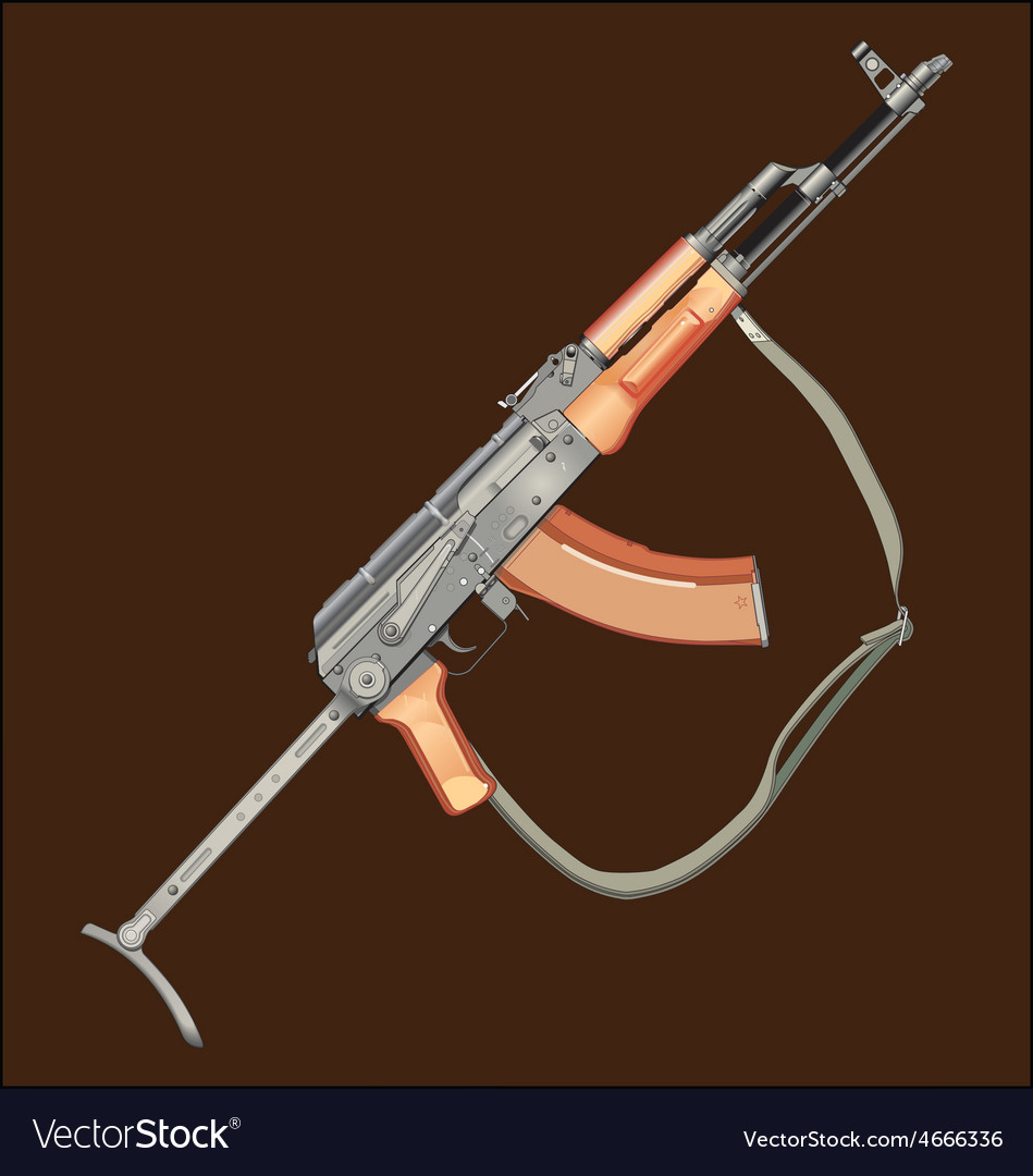 Realistic ak47 gun vector | Price: 1 Credit (USD $1)