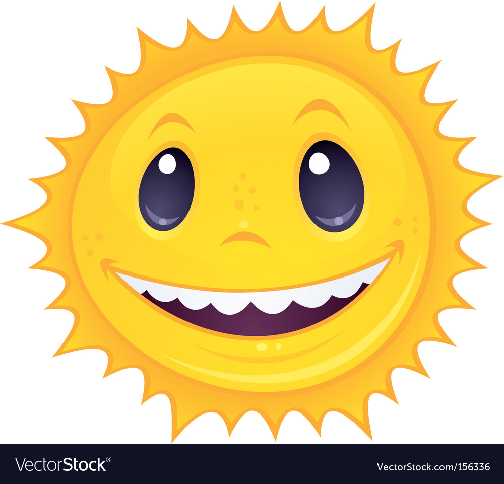 Smiley sun vector | Price: 1 Credit (USD $1)