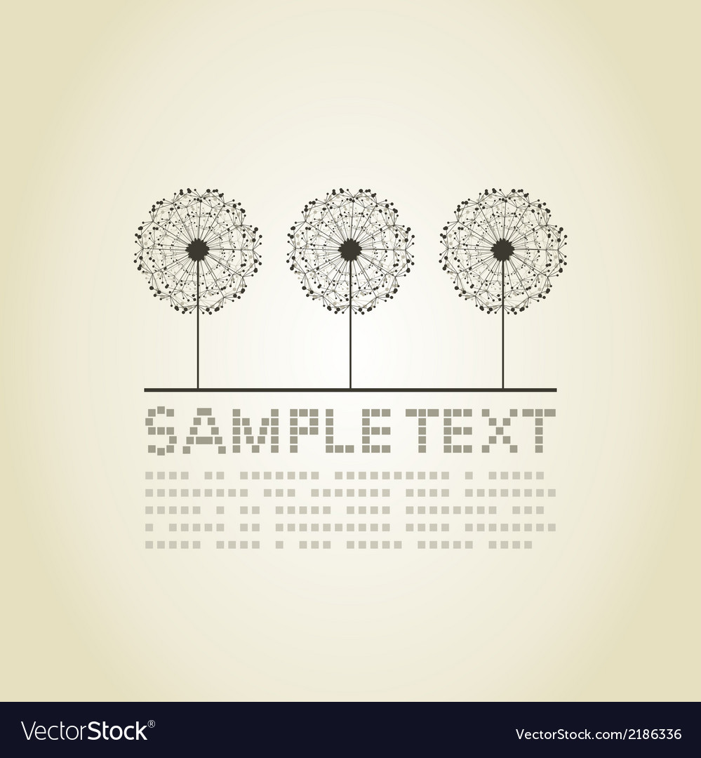 Three dandelions vector | Price: 1 Credit (USD $1)