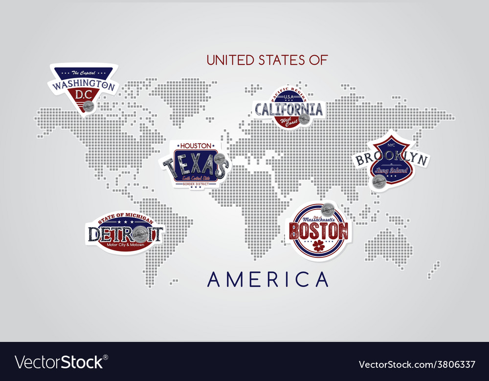 America emblem vector | Price: 1 Credit (USD $1)