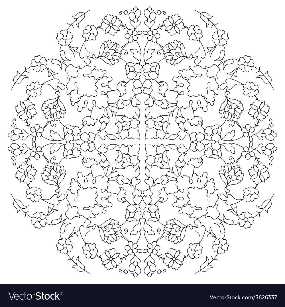 Artistic ottoman line pattern series twenty nine vector | Price: 1 Credit (USD $1)