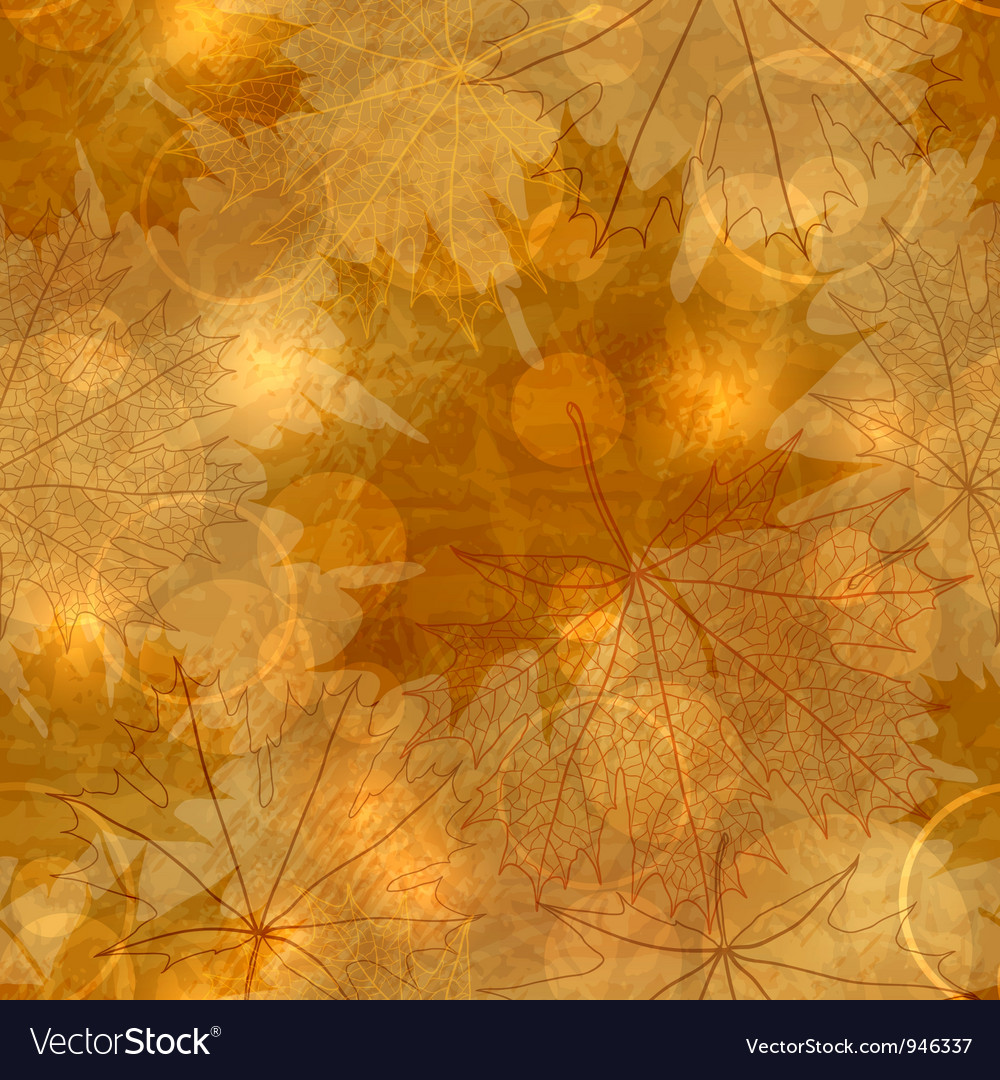 Autumnal leaves pattern vector | Price: 1 Credit (USD $1)