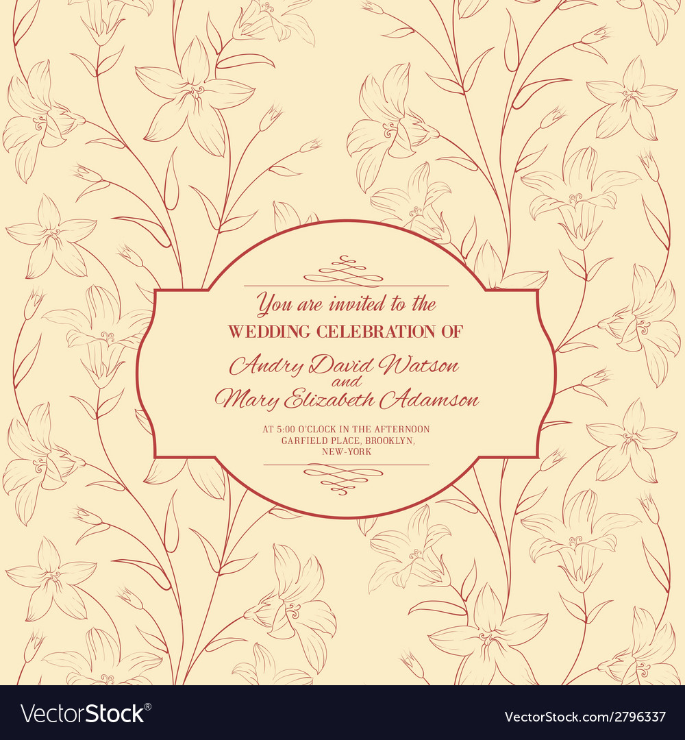 Beautiful vintage card vector | Price: 1 Credit (USD $1)
