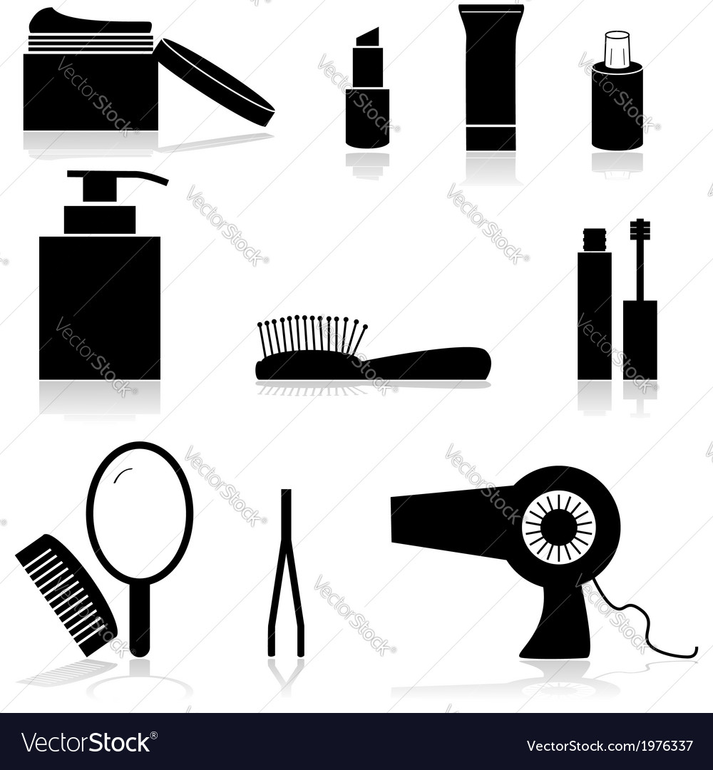 Beauty icons vector   Price: 1 Credit (USD $1)