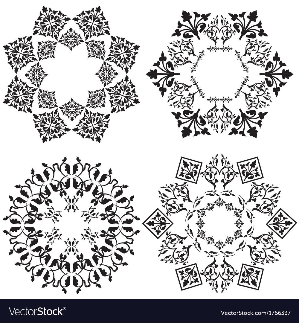Design element black and white version vector | Price: 1 Credit (USD $1)