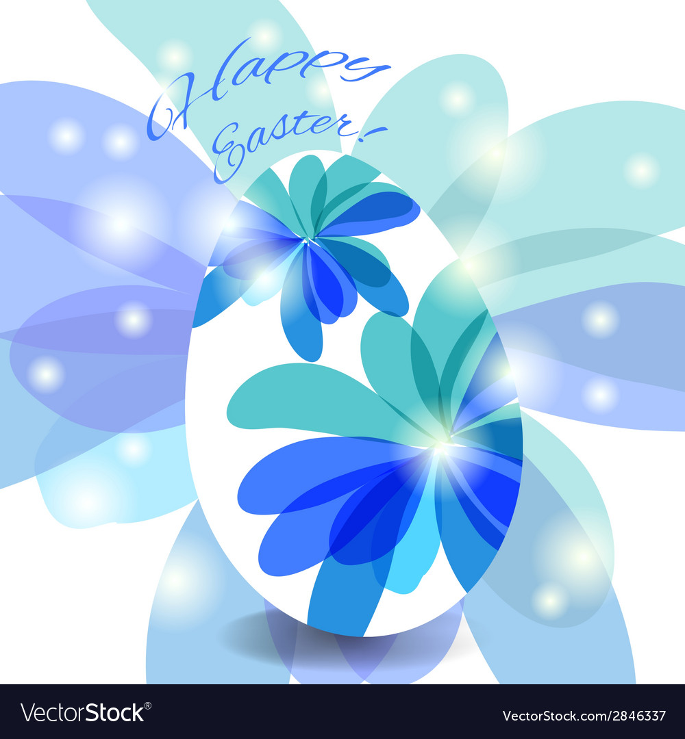Easter card egg with wishes vector | Price: 1 Credit (USD $1)