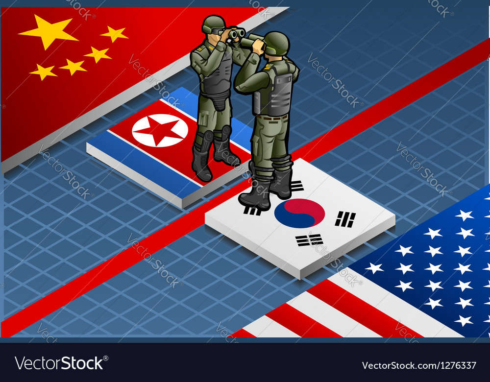 Korean crisis vector | Price: 1 Credit (USD $1)