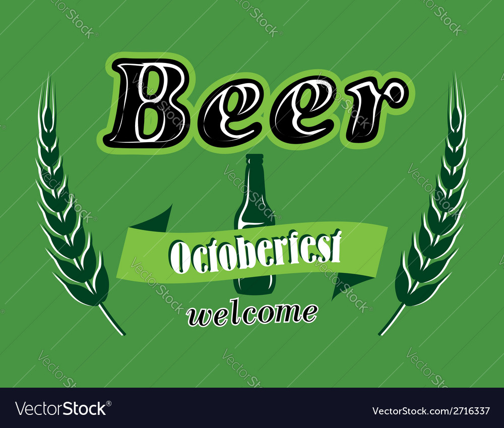 Oktoberfest beer banner vector | Price: 1 Credit (USD $1)