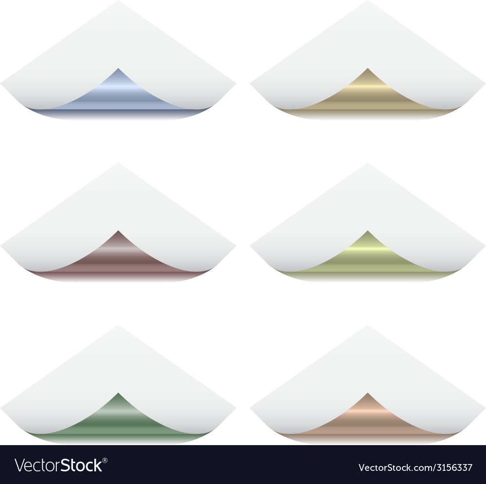 Page corners with metallic back vector   Price: 1 Credit (USD $1)
