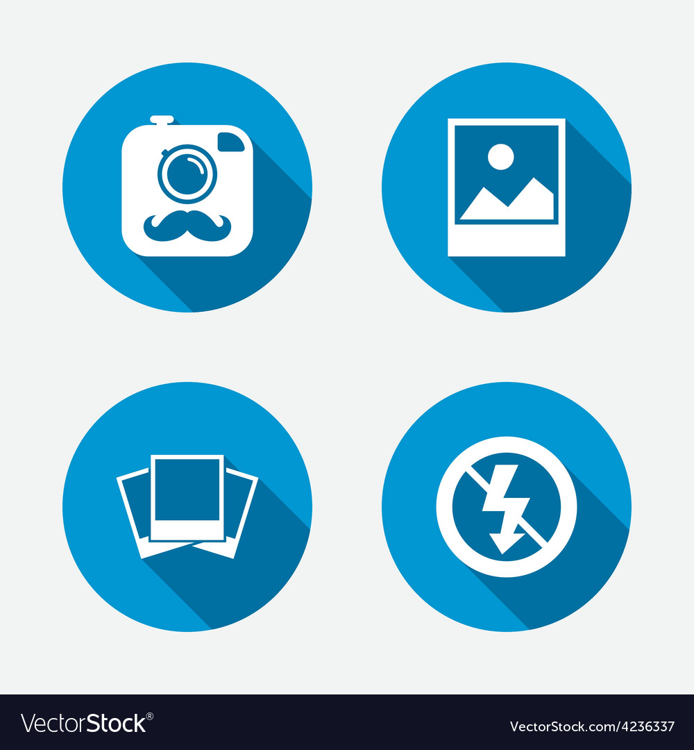 Photo camera icon no flash light sign vector | Price: 1 Credit (USD $1)