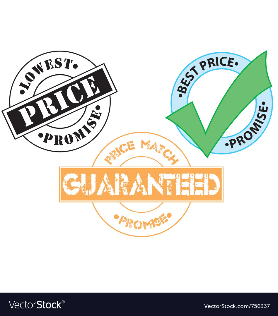 Price match guarantee sticker icons vector | Price: 1 Credit (USD $1)
