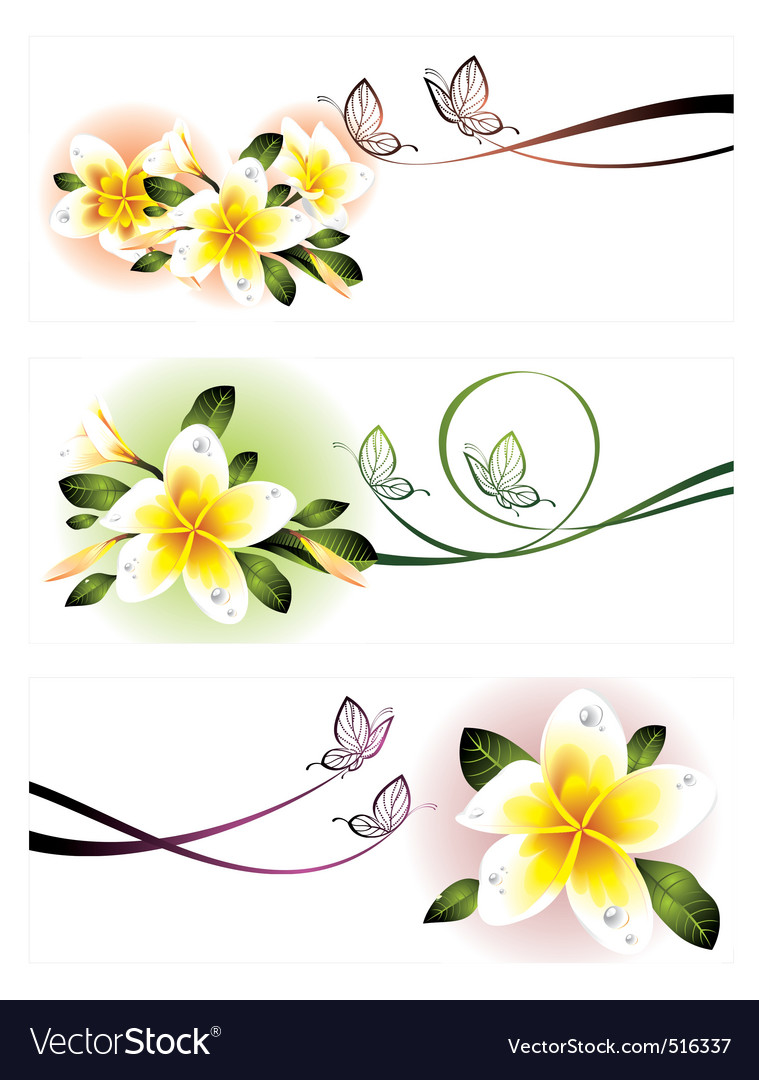 Romantic floral banners vector | Price: 1 Credit (USD $1)