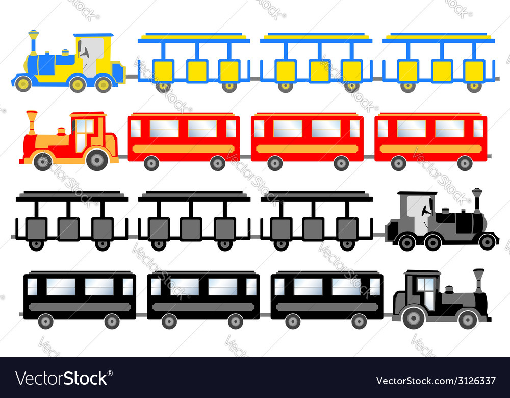 Sightseeing trains vector   Price: 1 Credit (USD $1)