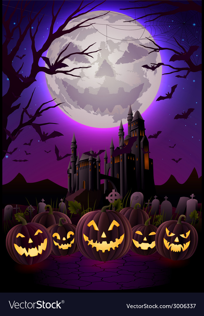 Spooky halloween night vector | Price: 3 Credit (USD $3)