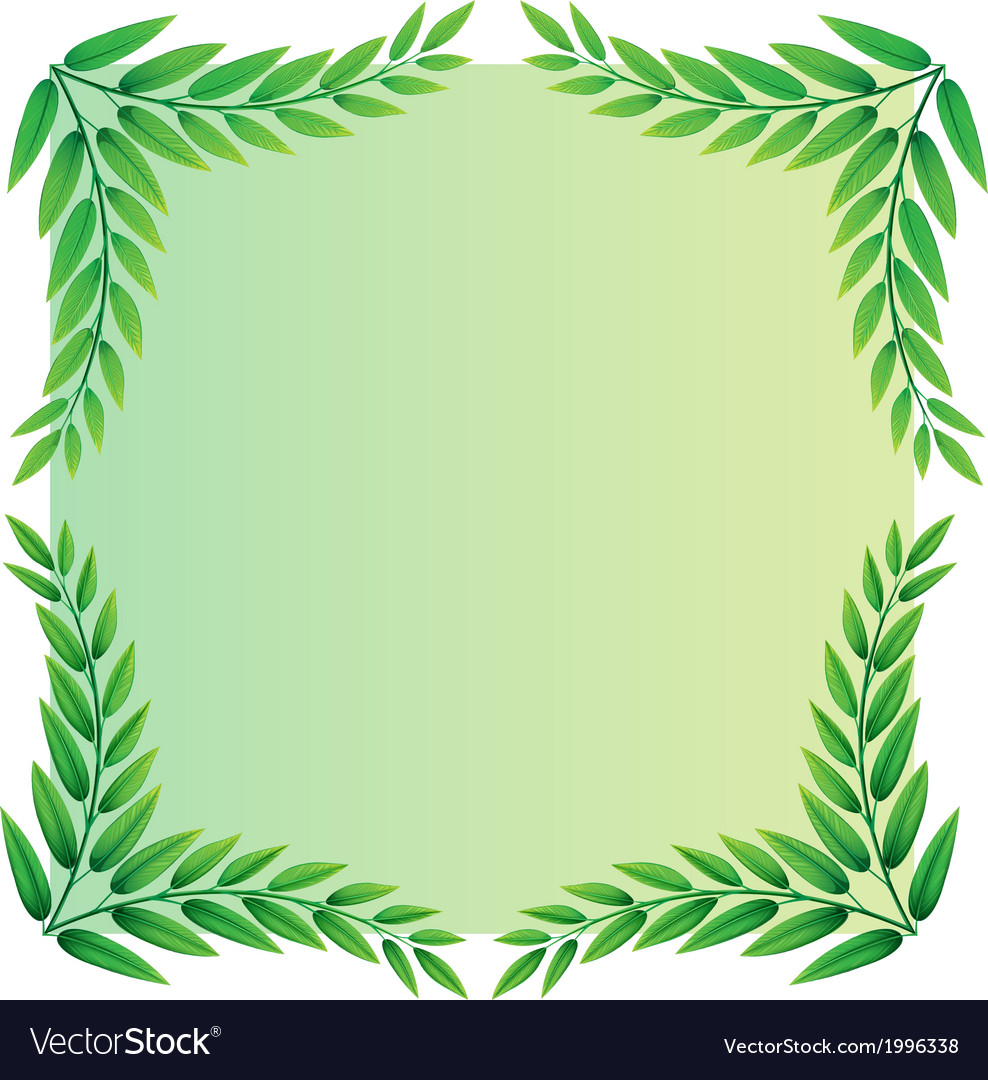 A leafy template vector | Price: 1 Credit (USD $1)
