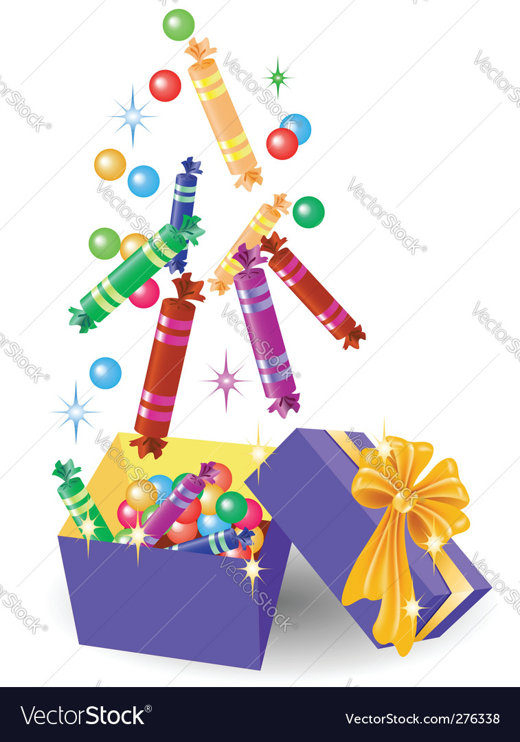 Christmas gift box of candy vector | Price: 1 Credit (USD $1)