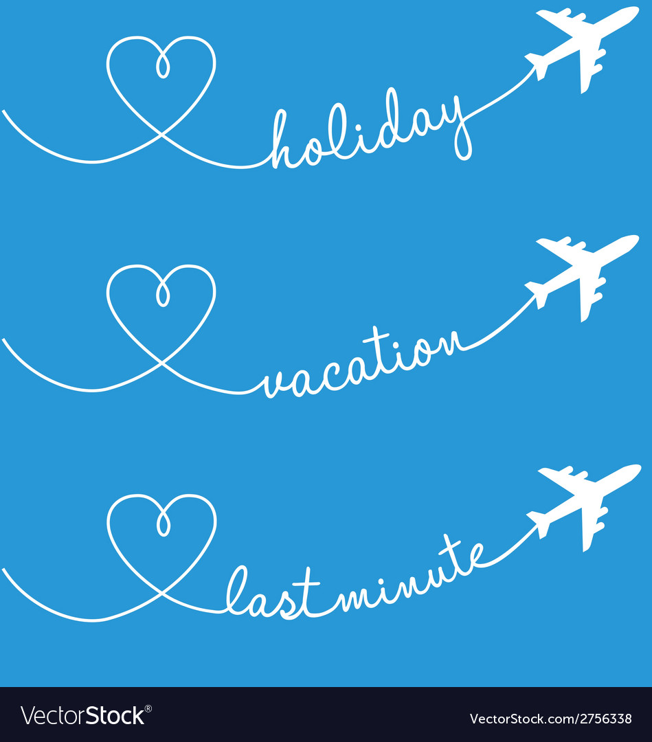 Holiday vacation flying set vector | Price: 1 Credit (USD $1)