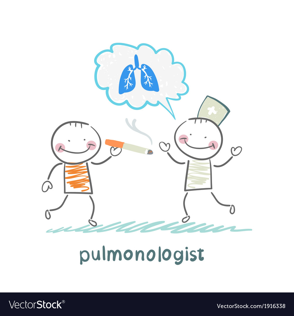 Pulmonologist pulmonologist says lung patient who vector | Price: 1 Credit (USD $1)