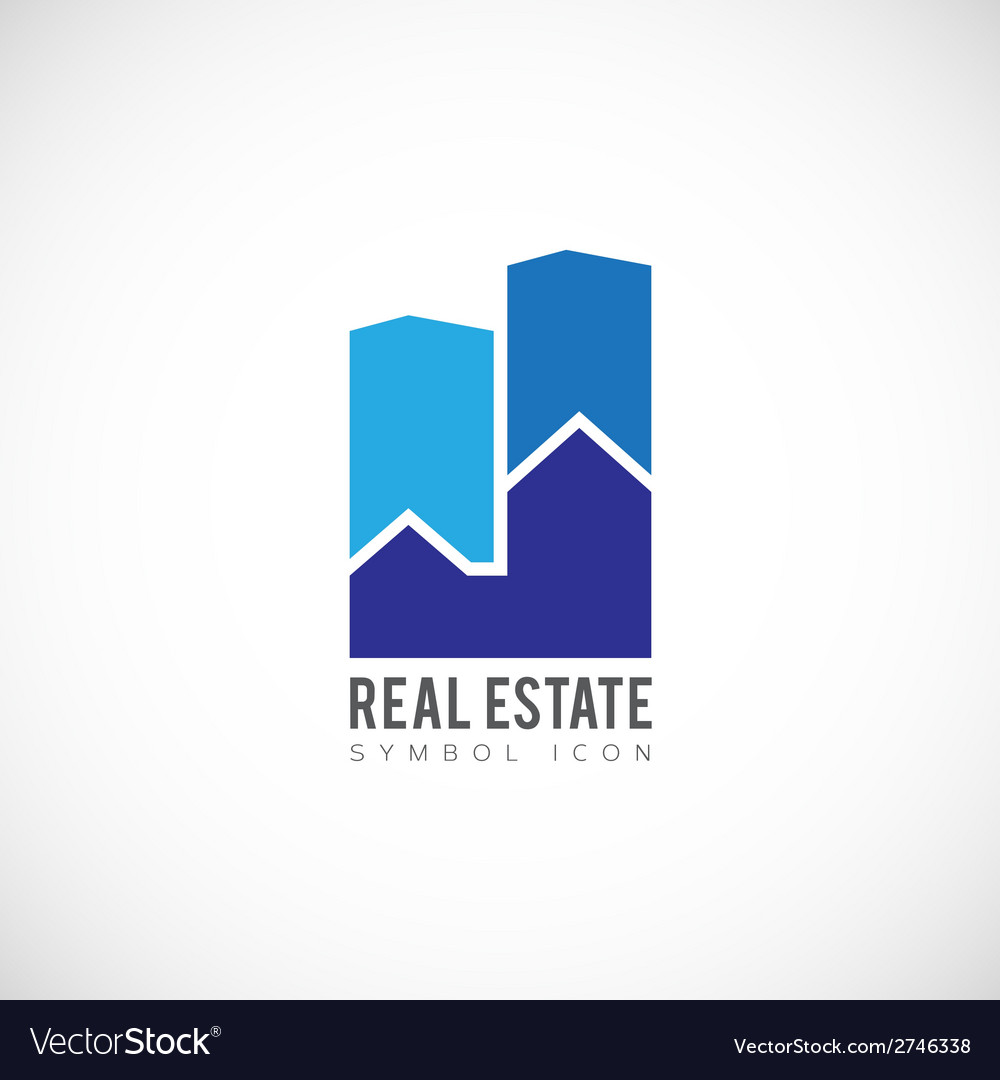 Real estate concept symbol icon or logo template vector | Price: 1 Credit (USD $1)